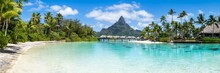 Panoramic View Of The Bora Bora Atoll In French Polynesia
