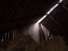 Light Passing Trough Boards Of An Old Barn
