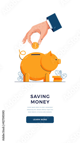 Fotografie, Obraz Saving money vector illustration