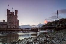 Caernarfon Castle At Dusk