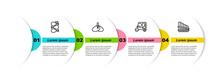 Set Line Tandoori Chicken, Indian Headgear Turban, Taxi Tuk Tuk And Pan Flute. Business Infographic Template. Vector