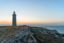 Absheron Big Lighthouse On The Seashore Near Baku In Azerbaijan