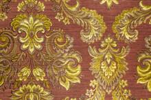 Vintage Fashionable Wallpaper Or Textile Texture With Floral Ornamen