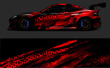 Red Car Wrap Design