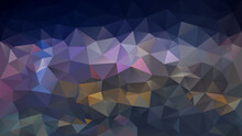 Vector Abstract Irregular Polygon Background - Triangle Low Poly Pattern - Color Indigo Blue, Purple, Violet, Pink, Brown