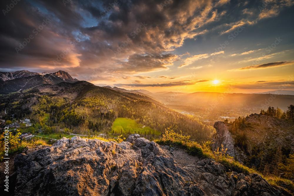Fototapeta Zachód Słońca na Nosalu