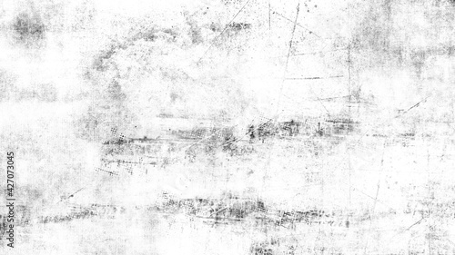 Fotografie, Obraz Black and white texture of scratches, chips, scuffs, dirt on old aged surface