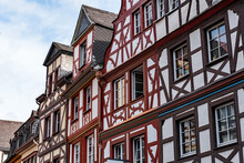 Half Timbered Houses At Market Square In Cochem, Germany
