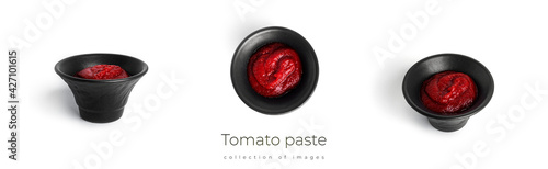 Obraz na plátně Tomato paste isolated on a white background.