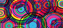 Abstract Background With Circles Color, Rendering