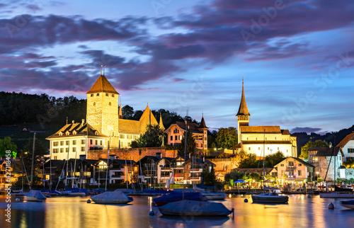 Spiez Castle on lake Thun in Switzerland