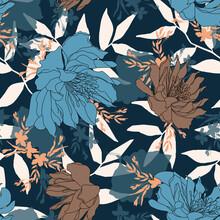 Seamless Flower Pattern, Floral Print.
