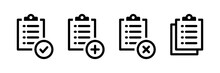 Set Of Clipboard Icon Vector.