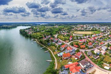 Ruciane-Nida -miasto na Mazurach w północno-wschodniej Polsce