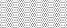 Сhain Link Fence. Black Wire Mesh. Prison Barrier, Secured Property Construction