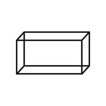Geometric Figures, Cuboid Outline Icon. Elements Of Geometric Figures Illustration Icon