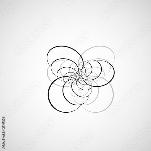 Valokuvatapetti Vector swirl design backdrop