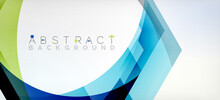 Vector Color Hexagons Geometric Abstract Background