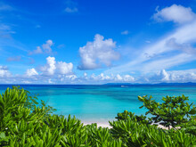 Tropical Island With Blue Sky