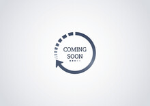 Coming Soon Loading. No Image, No Video Available. Simple Coming Soon Page Vector Illustration