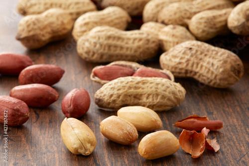 Fotografie, Tablou 殻付きピーナッツ 落花生 千葉半立