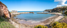 Panorama Of Cove Harbour On A Clear Sunny Day At High Tide