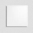 White closed box isolated.Vector illustration isolated on white background.