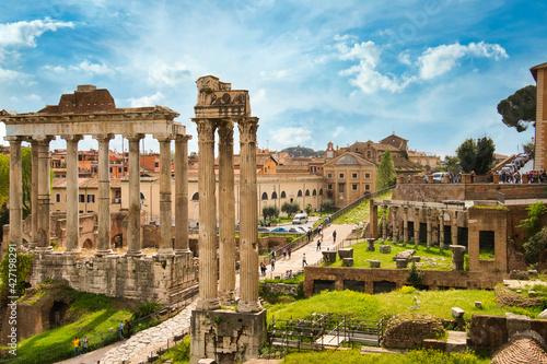 Obraz na plátně forum romanum in Rome, Italy