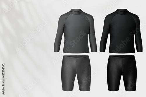 Obraz na plátne Men's rash guard and shorts swimwear fashion