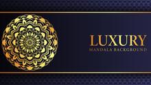 Luxury Arabesque Mandala Background Design Template