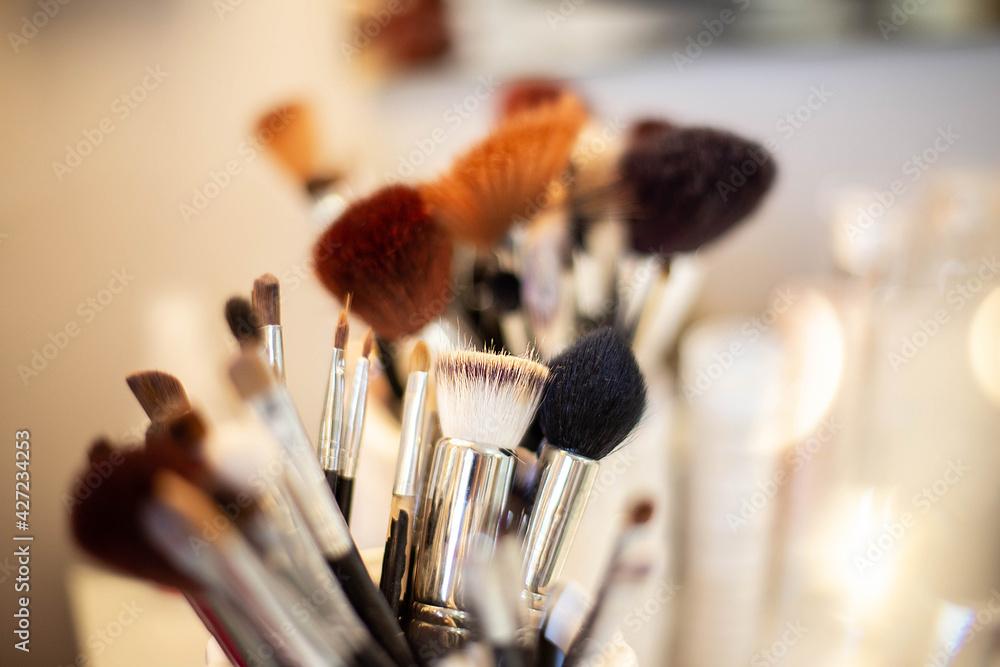 Fototapeta makijaż, pędzle
