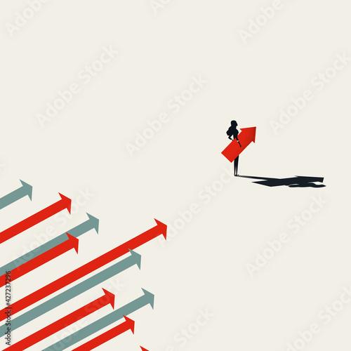 Vászonkép Business woman leader vector concept