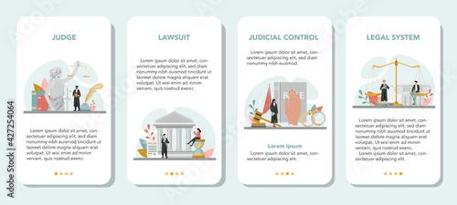 Obraz na płótnie Judge mobile application banner set