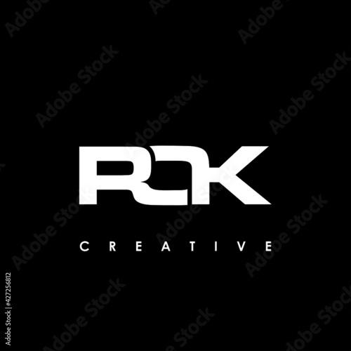 Fototapeta ROK Letter Initial Logo Design Template Vector Illustration obraz