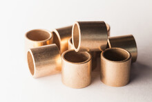 Sleeve Bronze Bearings On A White Background