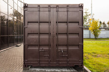 Dark Brown Cargo Shipping Container