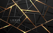 Abstract black and gold geometric lines background
