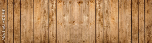 Canvas old brown rustic light bright wooden texture - wood background panorama banner long