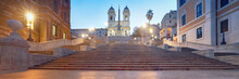 Monumental Staircase Spanish Steps And And Trinita Dei Monti Chu