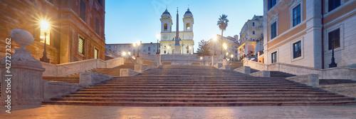 Fototapeta Monumental staircase Spanish Steps and and Trinita dei Monti chu obraz