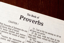 The Book Of Proverbs Title Page Close-up