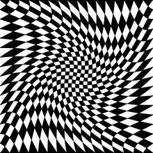 Checkered Twist Same Ornament. Swirling Race Flag.