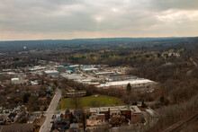 Dundas Ontario On A Winter Day, Popular Hiking Trail In Canada