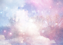 Abstract Winter Background, Flowers, Spring, Spring Flowers, Snowdrops, Primroses, In The Forest, Abstract, Texture, Grunge, Art, Watercolor, Wallpaper, Vintage, Bright, Illustration, Paint, Design, P