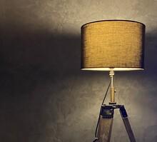 Lampe De Salon électrique Dans Une Ambiance Tamisée
