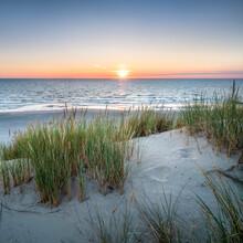 Beautiful Dune Beach At Sunset