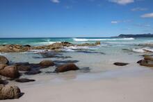 Beautiful Sandy Beach - Friendly Beaches, Freycinet National Park, Eastern Tasmania.