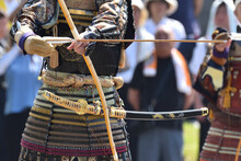 Japanese Archery, With High Concentration