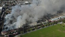 Large Fire In Commercial Building