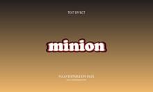 Minion Style Editable Text Effect
